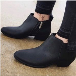 Sam Edelman Black Petty Rain Stacked Heel Boots